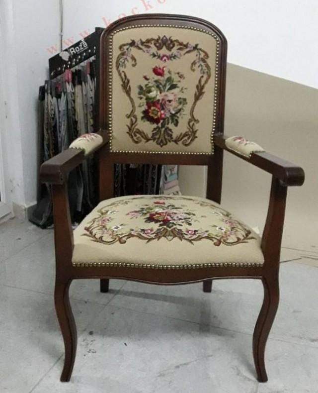 Dokuma Kumaş Klasik Sandalye