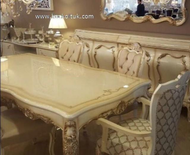 Efsane Klasik Altın Varak Yemek Odası