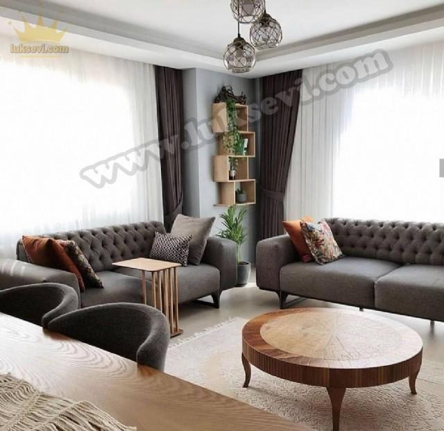 Evdekoru Modern Avangart Salon Koltuk Takımı Yataklı Kapitoneli
