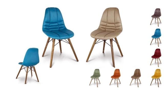 Farkı Renk Seçenekleriyle Yemek Masası Sandalyesi