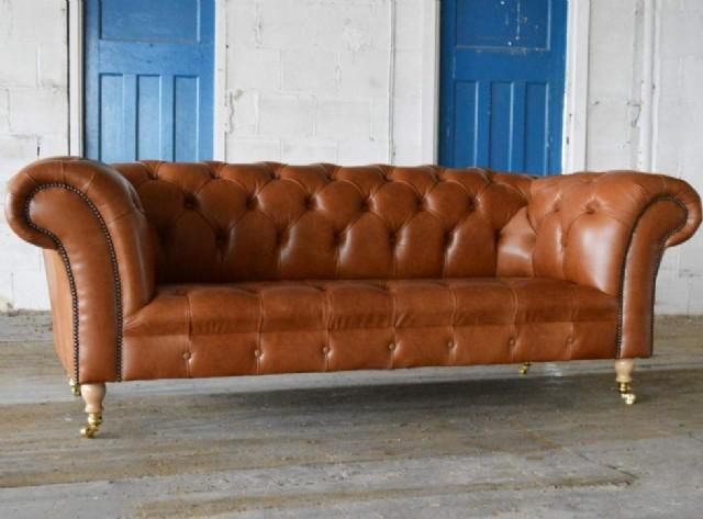 Gerçek Deri Chester Koltuk Takımları Chesterfield Sofa Models