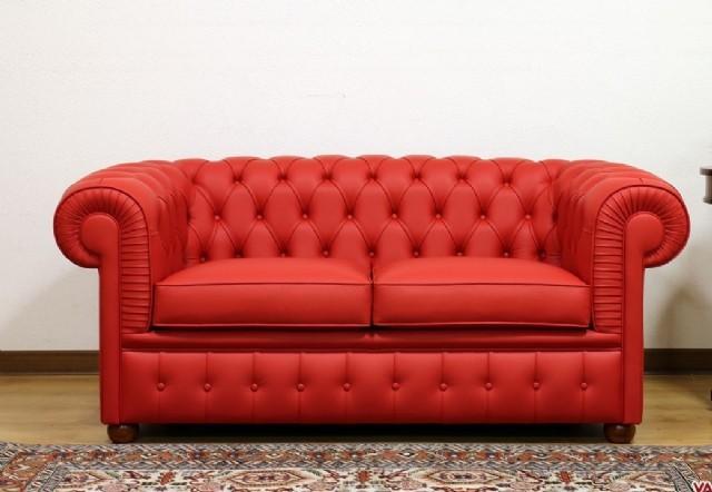 Gerçek Deri İle Döşenen Bu Chesterfield Kanepe Kırmızı Renk Tasarım Teslim Edilen Üründür. Sizde Bu