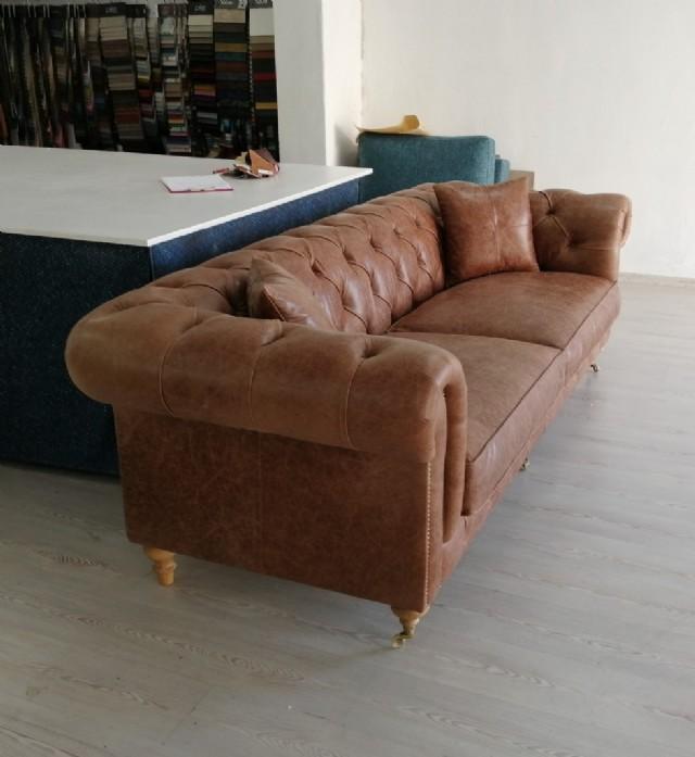 chester deri kanepe modeli gerçek deri koltuk tak