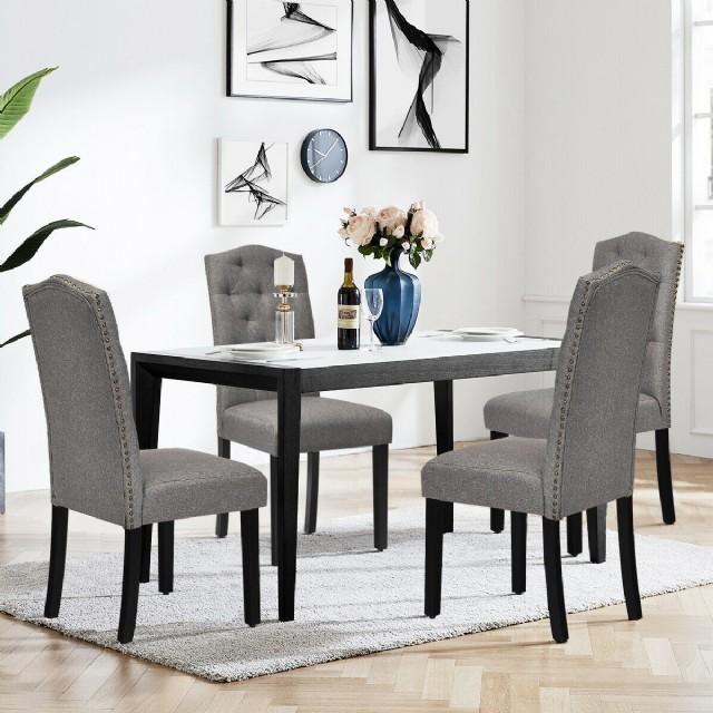Gri Renk Yemek Sandalyeleri Lüks Masa Ve Sandalye Mutfak Yemek Odası