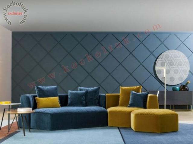 Hexagon Köşe Koltuk Modern Köşe Koltuk Takımı Modüler Dekoratif