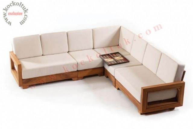 a.bahçe masası bahçe sandalyesi masa sandalye iroko l köşe koltuk takımı i