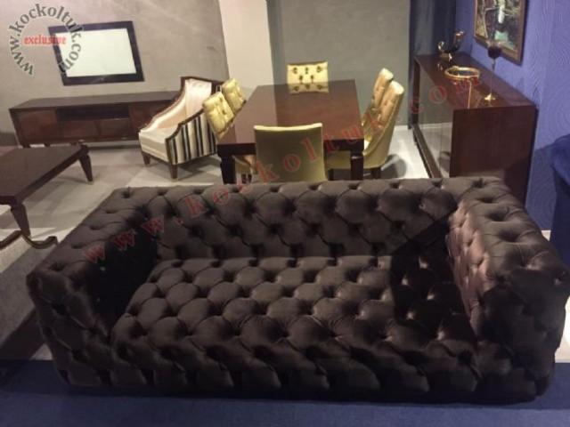 italyan model kapitone chester koltuk,chester koltuk,kapitone koltuk,siyah italyan chester koltuk,italyan üçlü koltuk,kapitone koltuk