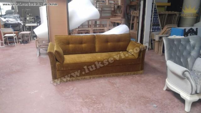 üçlü kanepe modelleri, yataklı kanepeler, üçlü koltuklar, üç kişilik kanepe modelleri, özel kanepe üretim, kadife kanepe modelleri