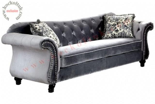 kadife kumaş taşlı chester kanepe mavi kadife kumaş kanepe özel imalat c