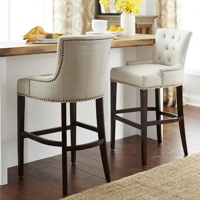 Keten Bar Sandalyesi Yüksek Sandalye Modelleri Ahşap Lüks