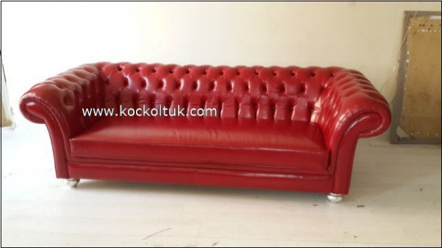 Kırmızı Chester Koltuk