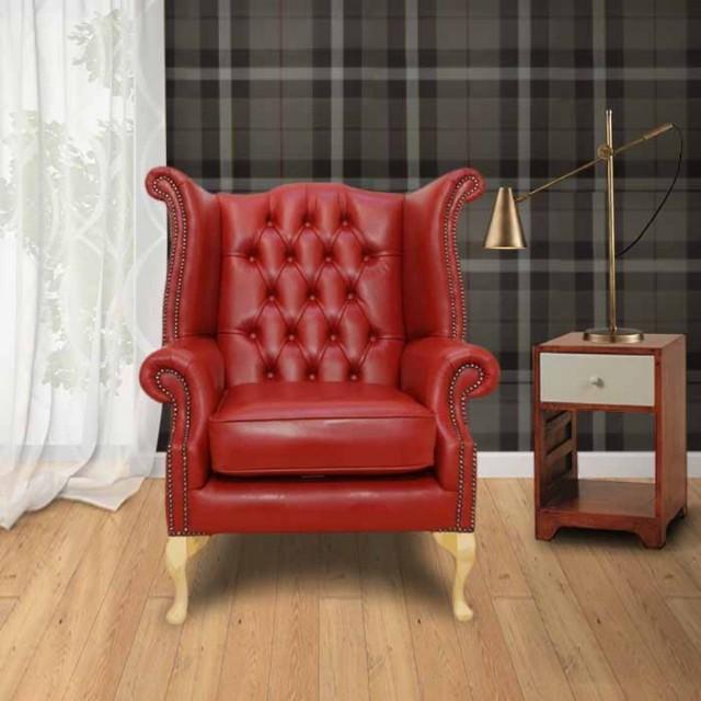 Kırmızı Renk Klasik Tekli Koltuk Amerikan Model Çalışması