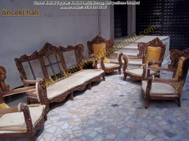 Klasik Koltuk Oymalı Salon Takım Bostancı Bağdat Caddesi Müşterimizin Cem Beyin Koltuklarının Yüz Ka