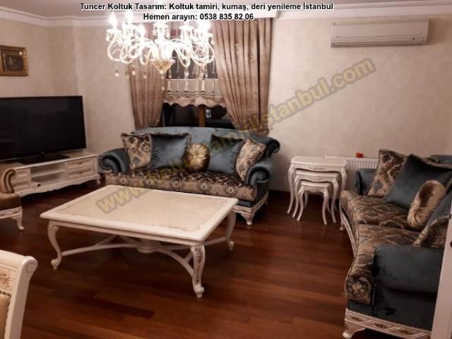 Klasik Koltuk Salon Takım Avangart Model Komple Müşteri İsteği Üzerine Malzemesi Yenilendi Yüksek Ka