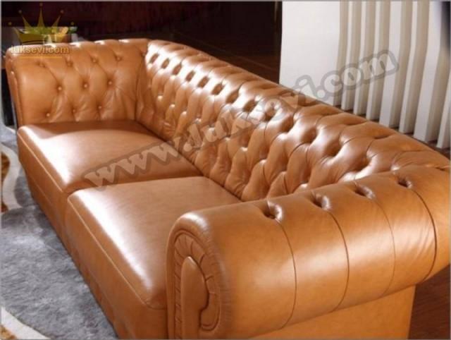 Klasik Lüks Chester Koltuklar Özel Üretim Zengin Renk Seçenekleri