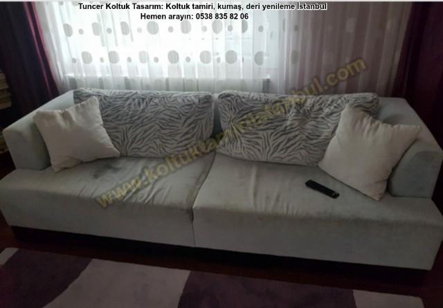 Koltuk Takımı Modern Salon Takım Kumaş Renk Değişimi Taytugu Kumaş Üçlü Renk Değişim 2 Li Koltuk Kap