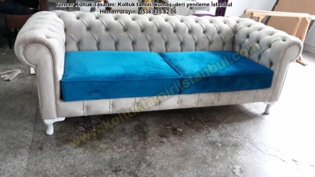 Koltuk Takımı Salon Avangard Kanepe Model Kadife Kumaş Yüz Değişim