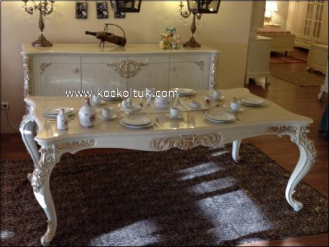 ahşap yemek odası, oymalı yemek odası, varaklı yemek odası, yemek odası takımları, klasik yemek odası takımları