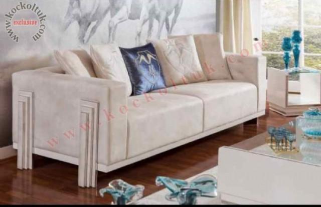 Krem Renk Modern Üçlü Kotuk
