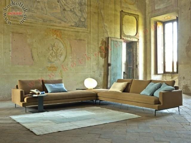 L Koltuk Takımı Hardal Sarısı Modern Luxury Tasarım