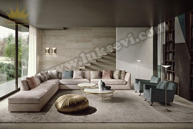 L Köşe Moderen Köşe Tasarımları  Rezidans Modern Köşe Koltuk Takımı Lüks Modern Köşe Koltuk