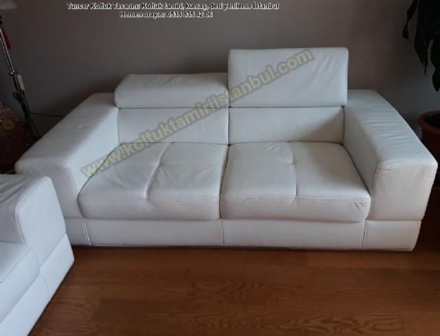 deri koltuk yüz değişimi lazzoni modern deri koltuk boyama