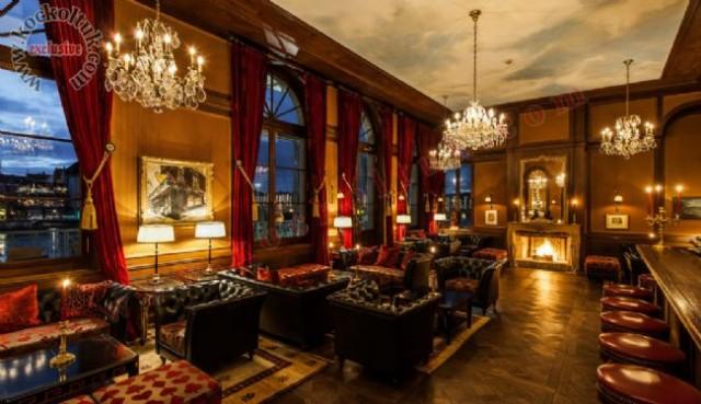 Lüks Restoran İçtasarımı Chester Koltuk Deri Koltuk Dekorasyonu