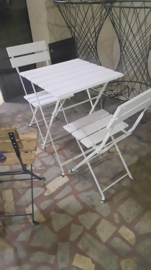 Metal Masa Ve Sandalye Modeli