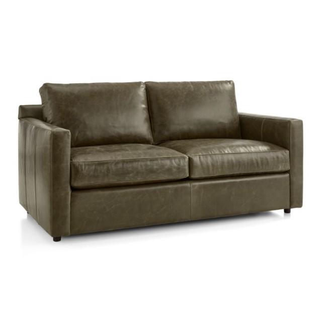 Modern Koltuk Gerçek Deri Yeşil Renk Seyyar Oturum Minderi Kaztüğü Minderli Modern Kanepe