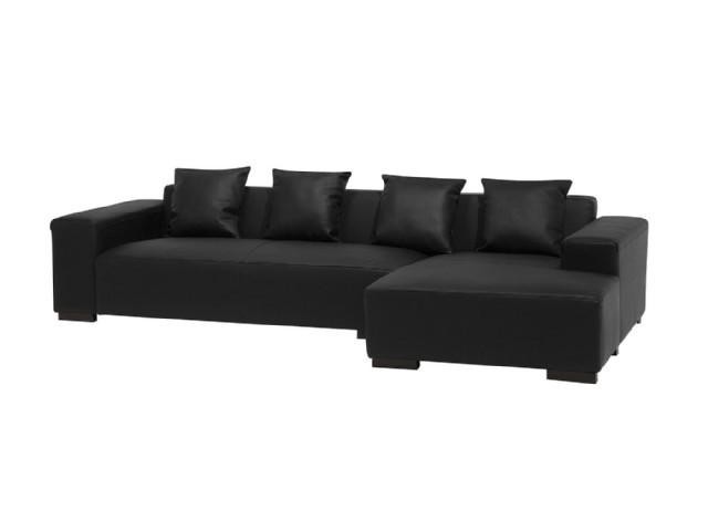 Modern Koltuk Takımlar Köşe Koltuk Takım Siyah Renk Deri Modüler