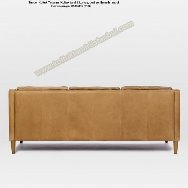 yüksek ayaklı kanepe modelleri antrasit renk deri