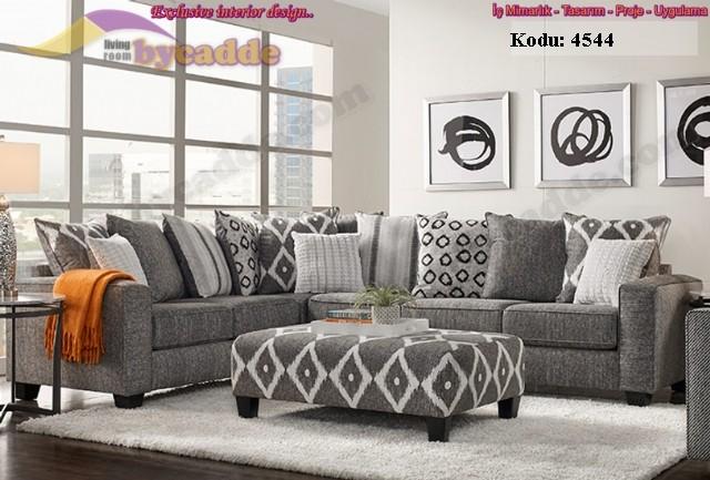 Modern Oturma Odası Köşe Koltuk Takımı Modern Rahat Tasarımlar