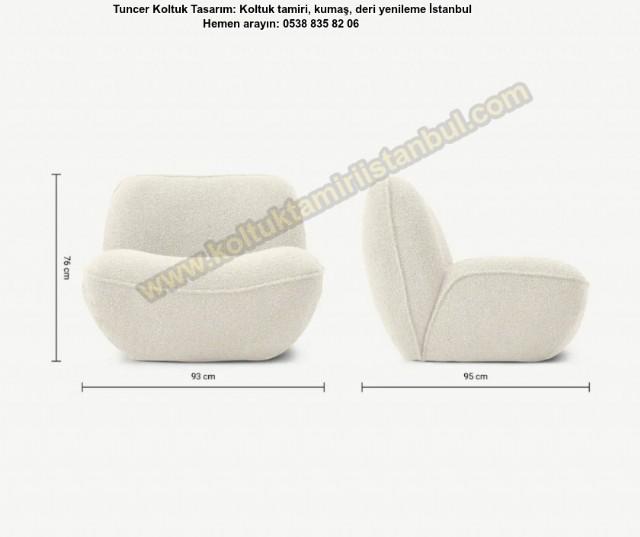 Modern Tekli / Berjer Koltuk Koltuk Oturma Odası Dekorasyonunun Olmazsa Olmazı Kabul Edilen Model Be