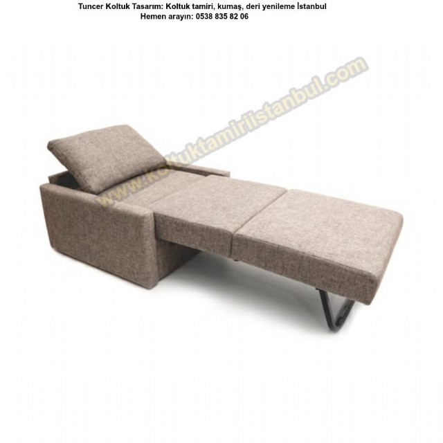 Modern Yataklı Koltuk Tek Kişilik Tekli Koltuk Keten Kumaş Silinebilir Kullanışlı