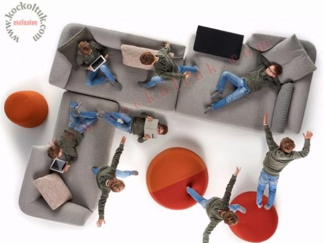 Modüler Benzersiz Modern Köşe Koltuk Takımı Ultra Modern Tasarım