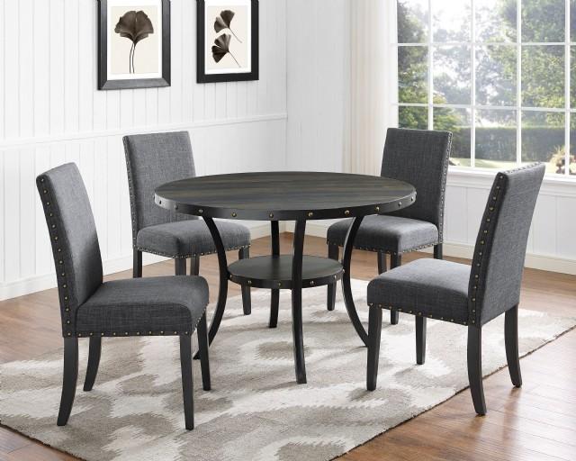Mutfak Yuvarlak Ahşap Masa Yemek Sandalyeleri Lüks Modern Tasarım