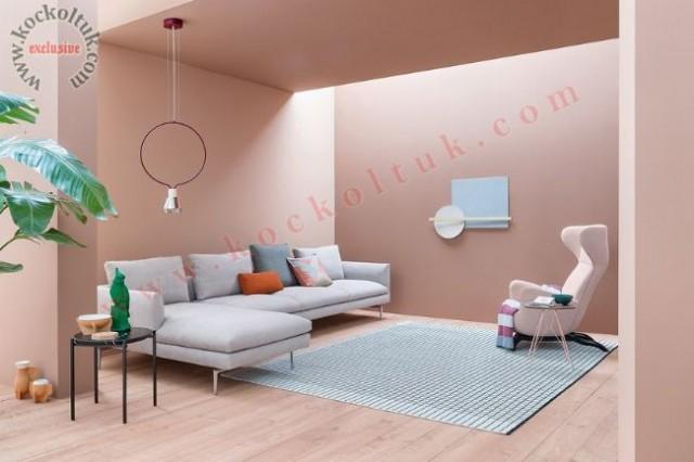 Oturma Odası Tasarımı Modern Köşe Koltuk Takımı