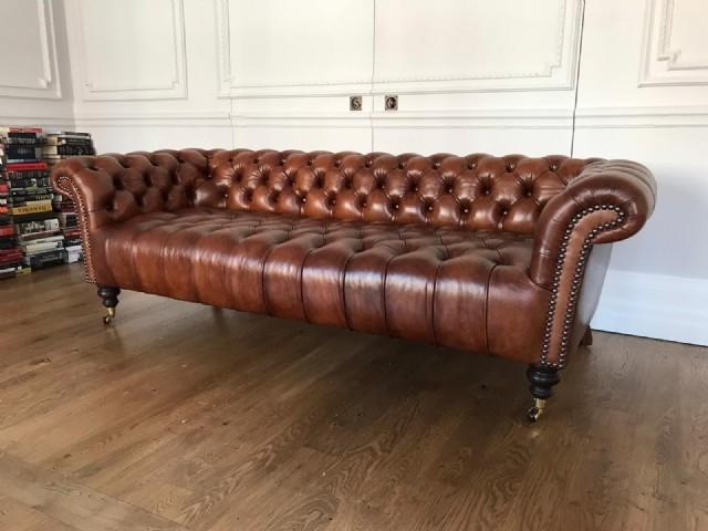 Oturum Sabit Gerçek Deri Koltuk Orjinal Chester Kanepe Model Özel Ölçü İmkanı