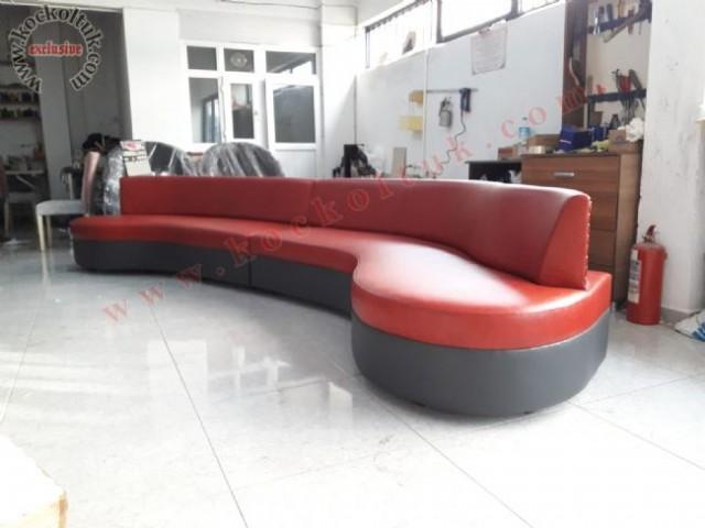 Oval Kırmızı Modern Koltuk Takımı