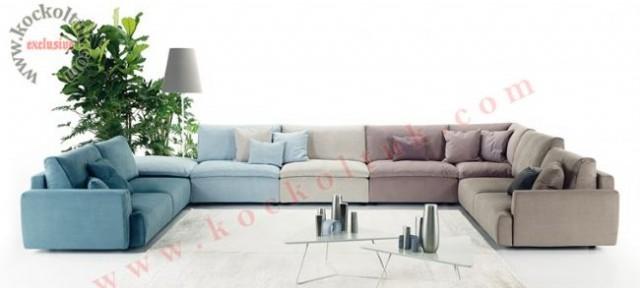 Özel Salon Modern Köşe Koltuk Takımı Tasarımı Özel Üretim
