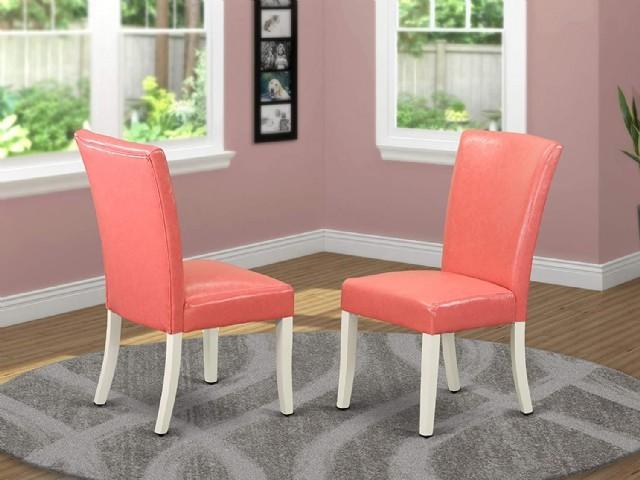 Pembe Deri Eko Giydirme Sandalye Modeli