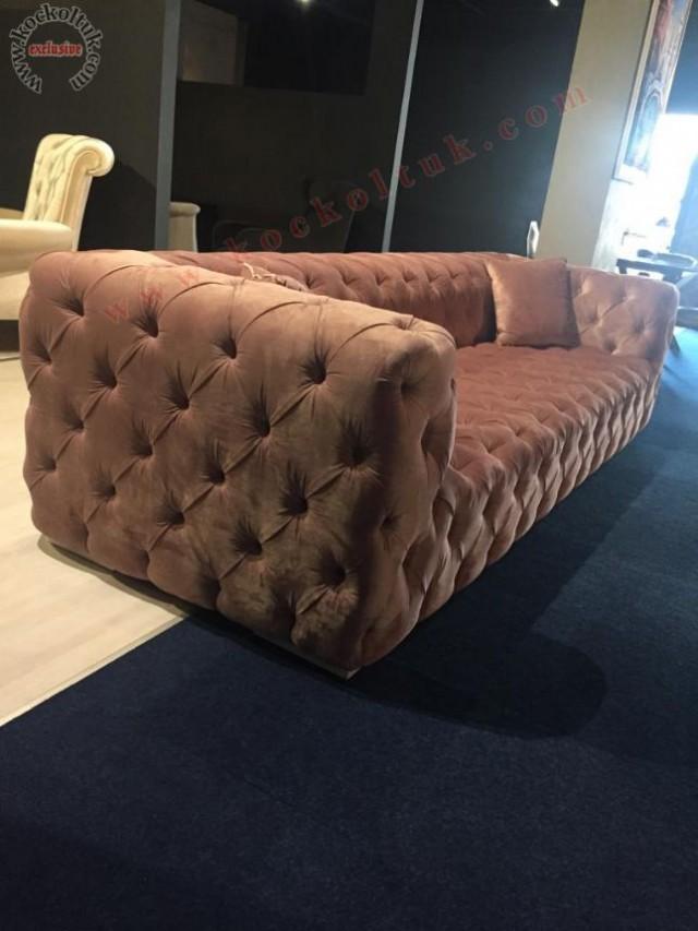 chester koltuk, italyan chester kanepe, dokuma kumaş,üçlü italyan chester koltuk,kapitone chester koltuk