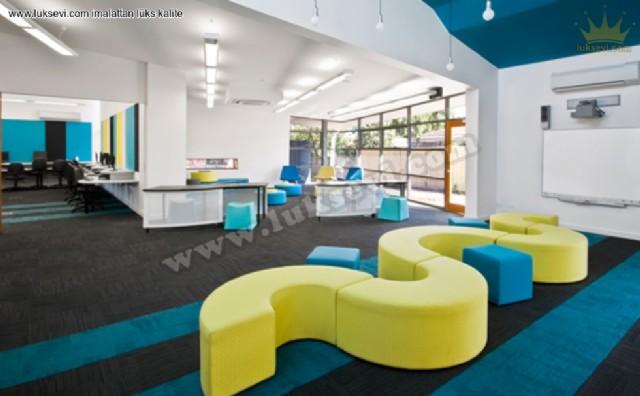Renkli Dekoratif Lobi Salon Koltuk Tasarımları Lüks Modern Modeller