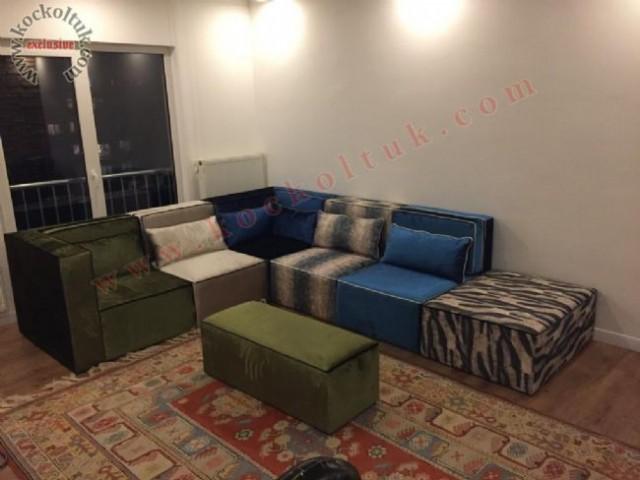 Renkli Oturumlar Sanat Rahat Modern Köşe Koltuk