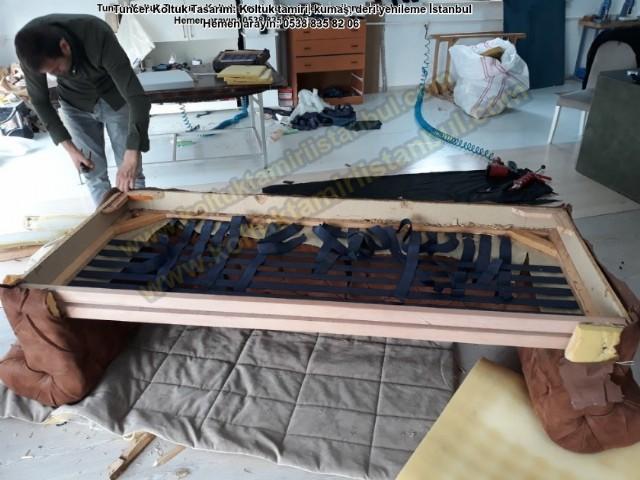 Salon Takım Chesterfield Kanepe Model Koşuyolu Koltuk Döşeme Kumaş Yüz Değişimi Tamir Tadilat Klasik