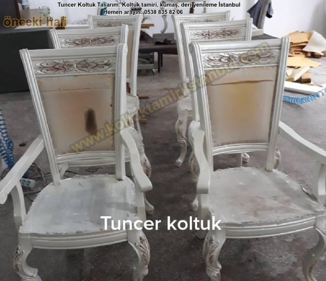 Sandalye Mobilya Cila Boyama Tamiri Yüz Değişimi