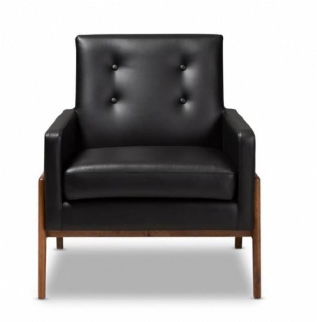 siyah rengi deri berjerler deri tekli koltuk mode