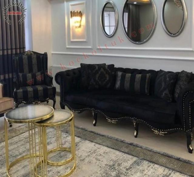 Siyah Renk Klasik Avangard Koltuk Takımları