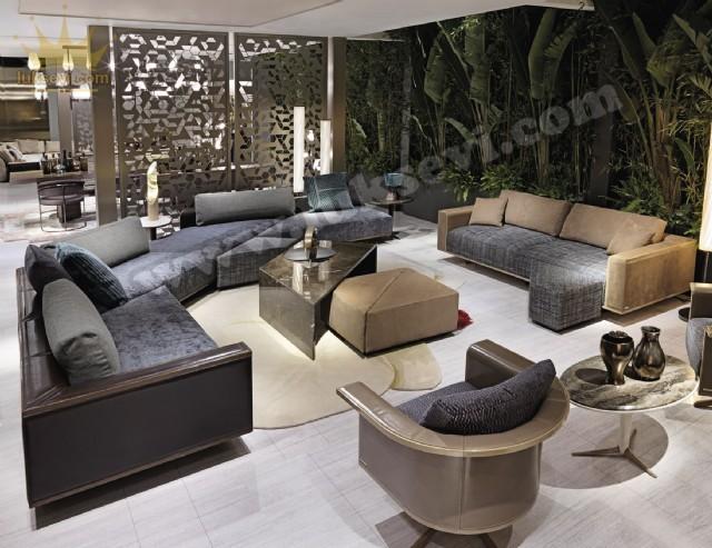 Süper Modern Dekoratif Köşe Takımı Özel Tasarım Yaşam Odaları