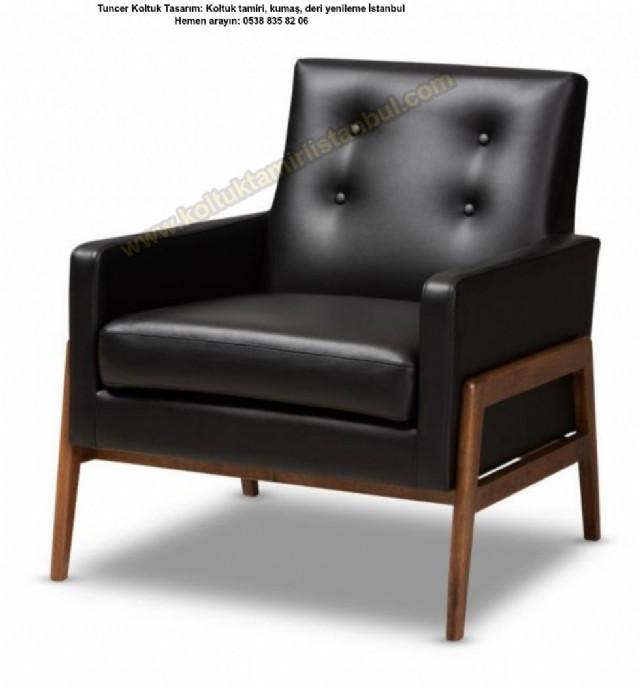 oltuk modelleri deri ahşap minderli koltuk tekli koltuklar